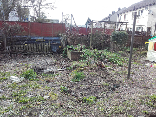 Garden clearance before